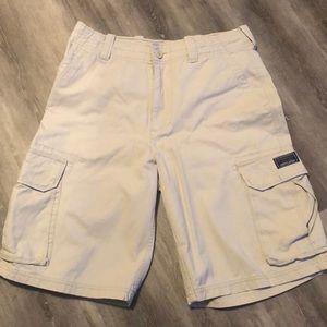 Men's cargo khaki shorts size 31, Aeropostale
